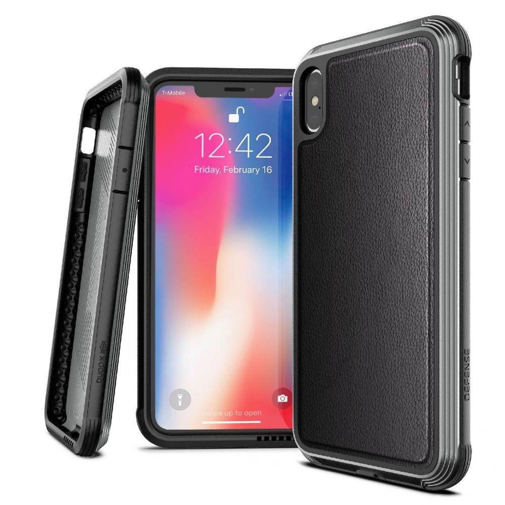 X-Doria Defense Lux Θήκη iPhone XS Max - Black Leather (3X4C0552B)