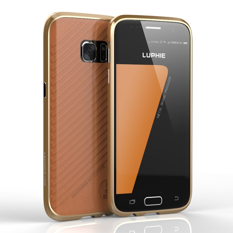 Luphie Θήκη - Bumper Αλουμινίου Samsung Galaxy S7 Edge - Gold (59719)