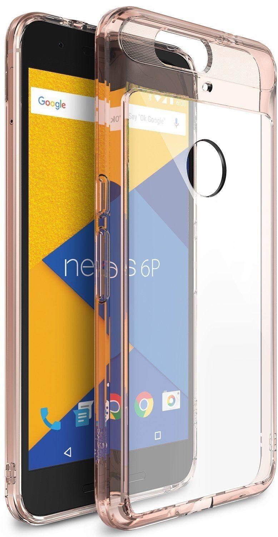 Ringke (Fusion) Διάφανη Θήκη Huawei Nexus 6P PC με TPU Bumper Rose Gold + Screen Protector (7717)
