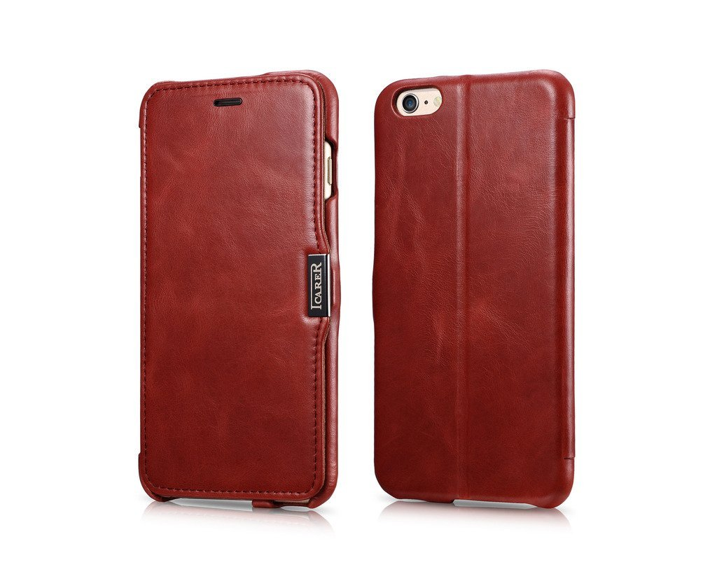 iCarer Vintage Series Side-Open Δερμάτινη Θήκη iPhone 6 Plus/6S Plus - Red (10062)