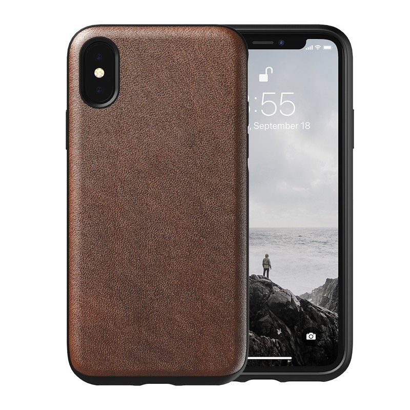 Nomad Horween Leather Δερμάτινη Θήκη iPhone XS Max - Rustic Brown (NM21TR0000)