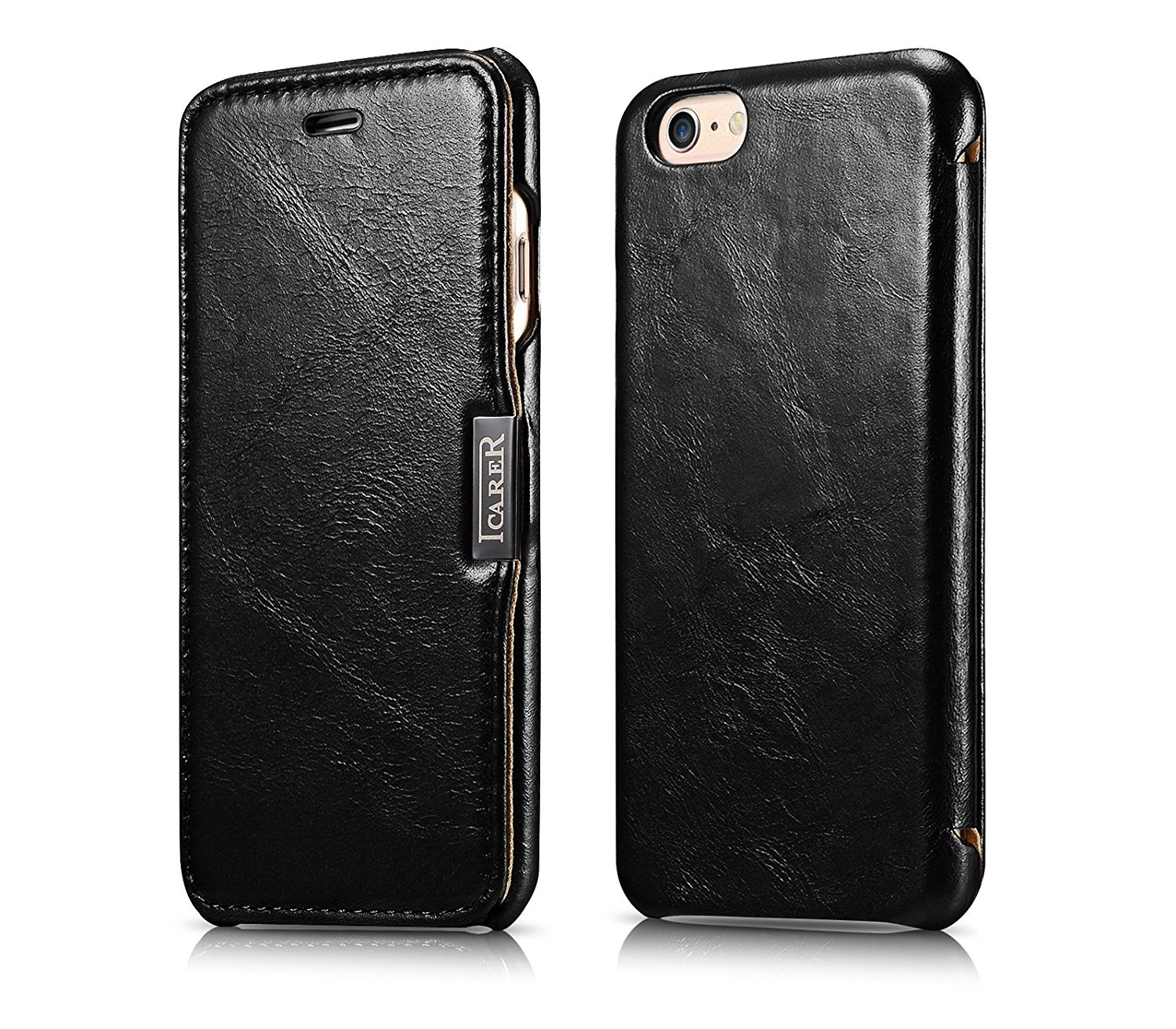 iCarer Vintage Series Side-Open Δερμάτινη Θήκη iPhone 6/6S - Black (10063)