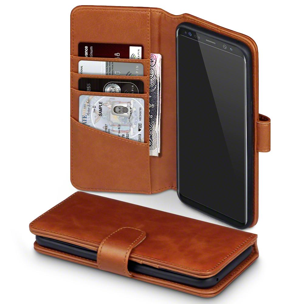 Terrapin Δερμάτινη Θήκη - Πορτοφόλι Samsung Galaxy S8 Plus - Cognac (117-002-957)