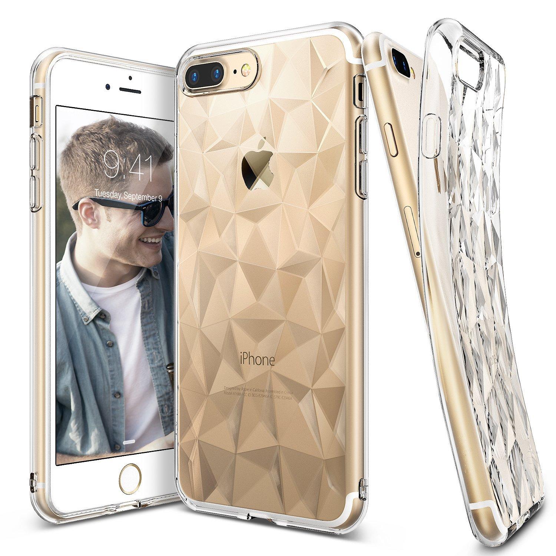 Ringke (Air) Διάφανη Θήκη Σιλικόνης iPhone 8 Plus /  iPhone 7 Plus με Ανάγλυφο Σχέδιο (RARP-IP7P-CR)