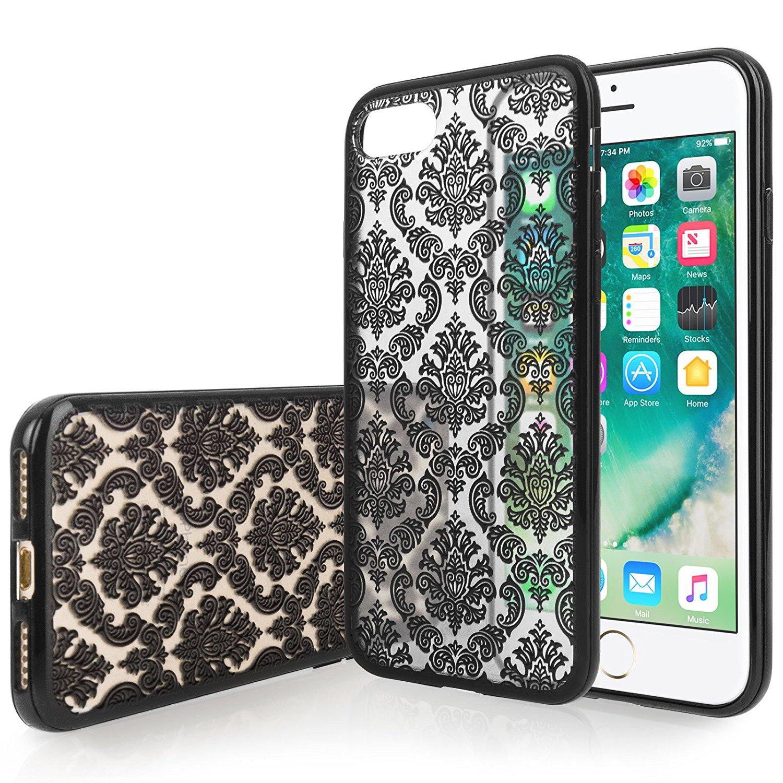 Yousave Θήκη Σιλικόνης iPhone 8 / 7  - Damask Black (AP-GA03-Z339)