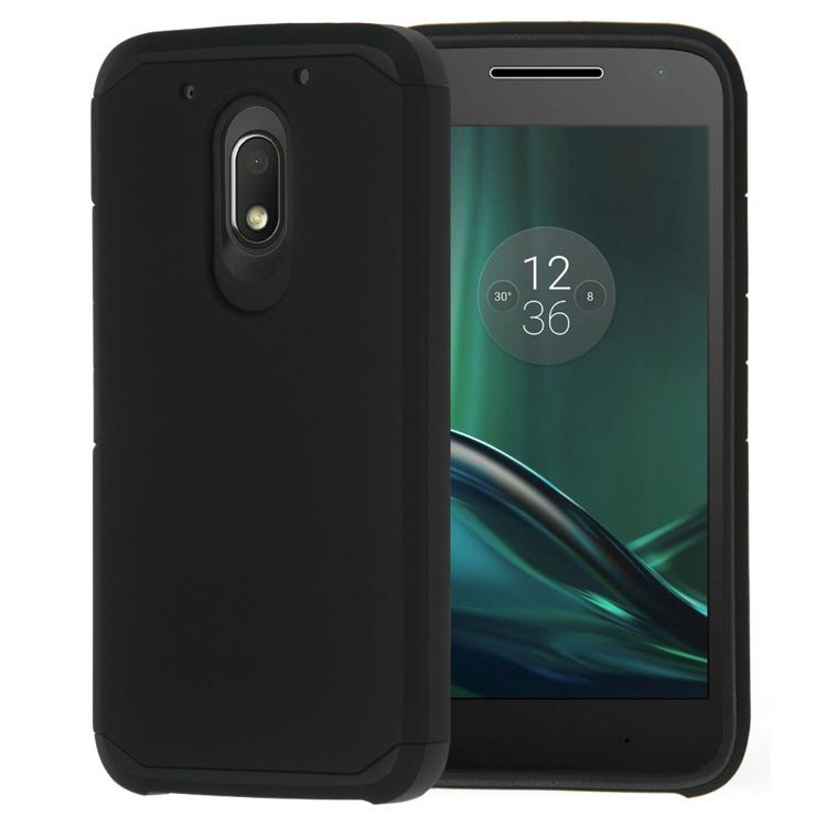 SHTL Ανθεκτική Θήκη Dual Armor Motorola Moto G4 Play - Black (138844)