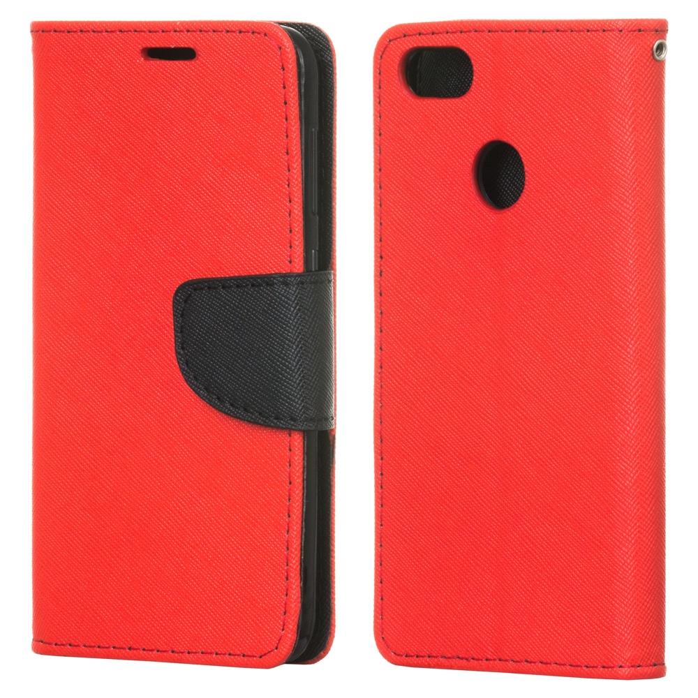 Θήκη - Πορτοφόλι Fancy Diary Huawei P9 Lite Mini - Red / Black (13715) - OEM