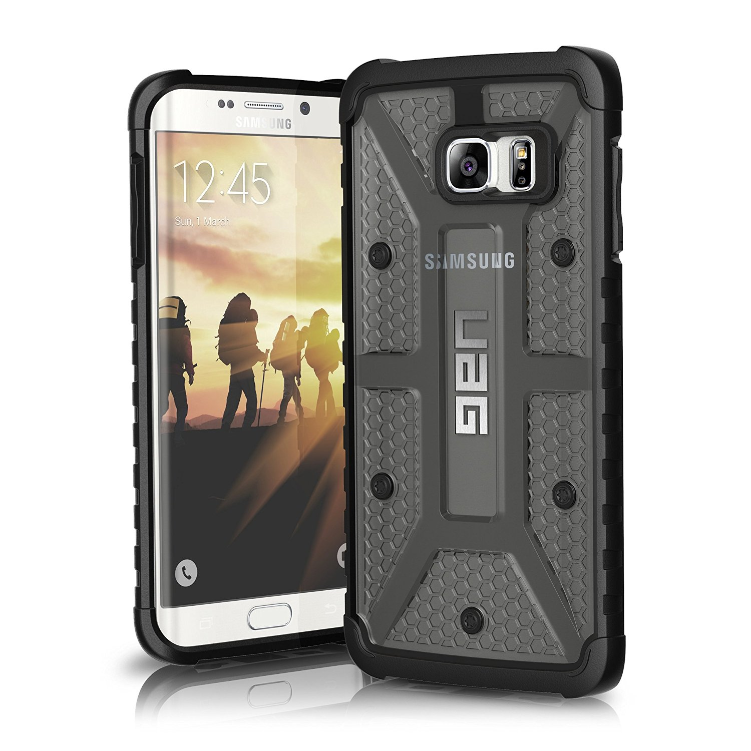 UAG Θήκη Feather-Light Composite Samsung Galaxy S6 Edge Plus - Ash/Black (8451)