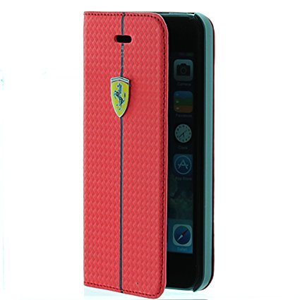 Ferrari Θήκη - Πορτοφόλι iPhone 8 / 7 - Red (FEST2FLBKP7RE)