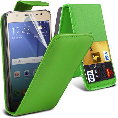 Flip Θήκη Samsung Galaxy J7 (2015) Πράσινο (8203) - OEM