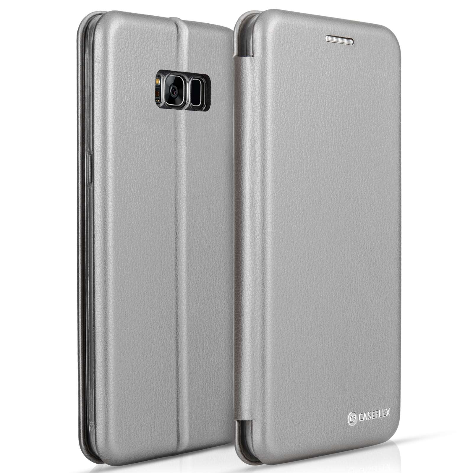 Caseflex Θήκη - Πορτοφόλι Samsung Galaxy S8 Plus - Grey (SA-EA09-Z644)