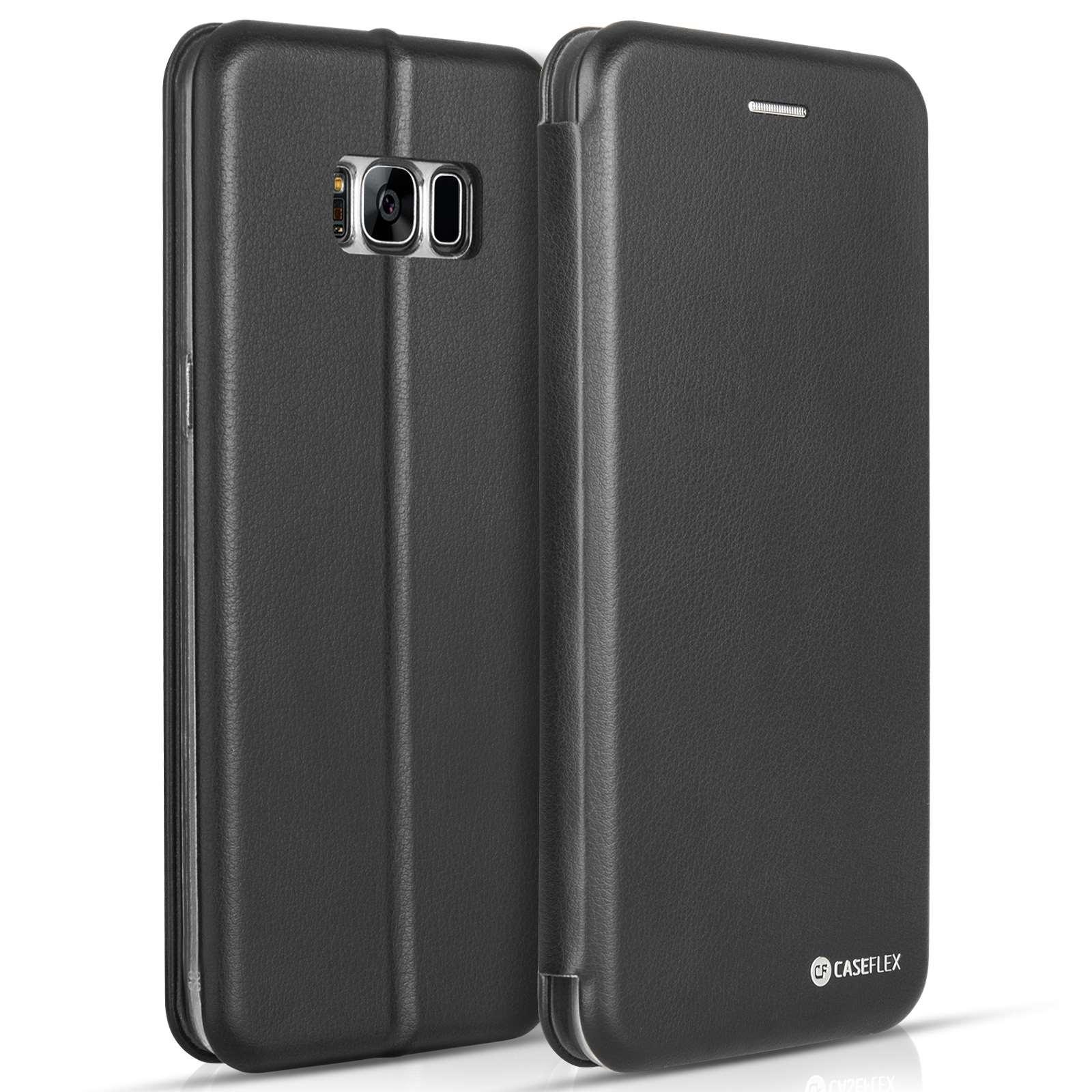 Caseflex Θήκη - Πορτοφόλι Samsung Galaxy S8 Plus - Black (SA-EA09-Z641)