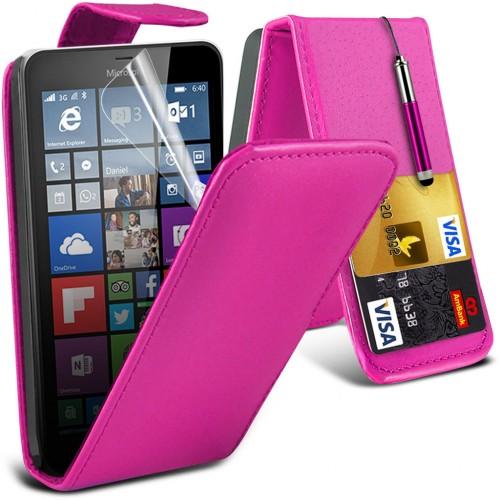 Flip Θήκη Microsoft Lumia 640 - Pink (001-116-601) - OEM