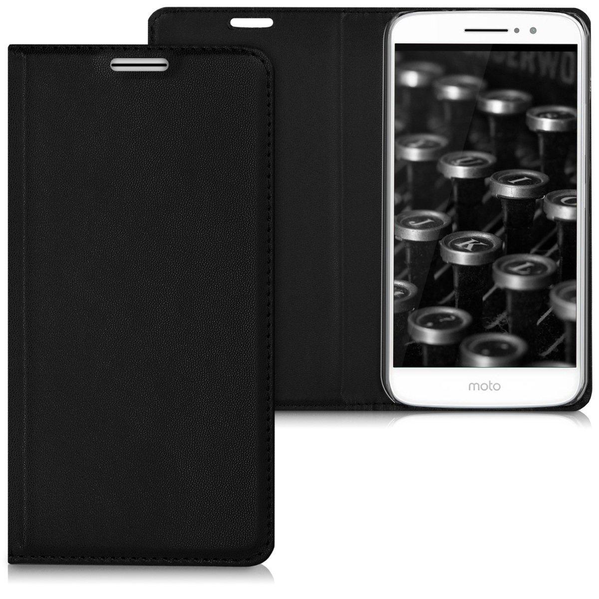 KW Flip Θήκη Motorola Moto M - Black (40646.01)