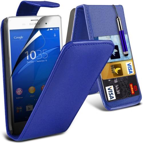 Flip Θήκη Sony Xperia Z3 Compact - Μπλέ (9962) - OEM