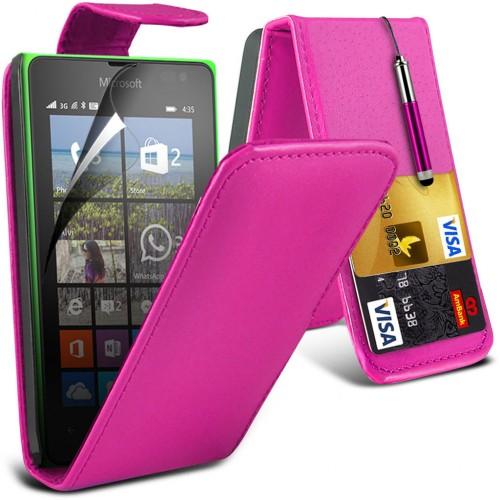 Flip Θήκη Microsoft Lumia 435 - Ροζ (9773) - OEM