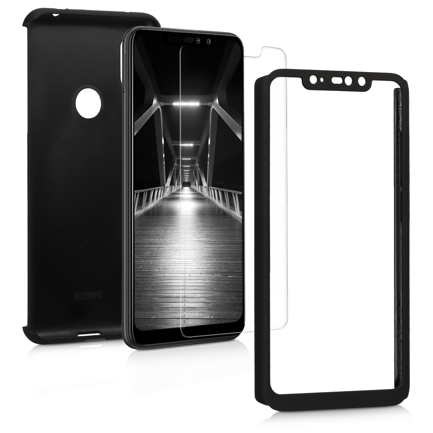 KW Θήκη Full Body για Xiaomi Redmi Note 6 Pro & Tempered Glass - Metallic Black (46507.68)
