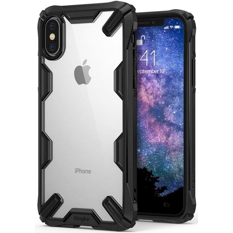 Ringke Fusion-X Θήκη iPhone XS Max με TPU Bumper - Black (14242)