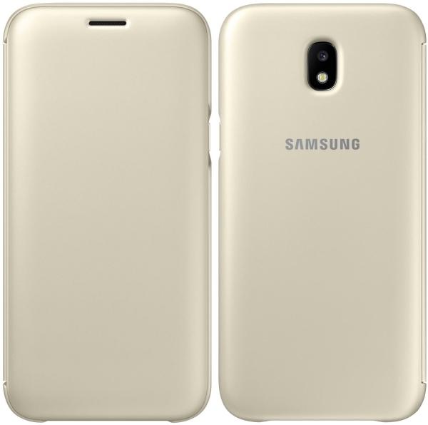 Samsung Official Flip Wallet - Θήκη Smart Wallet για Samsung Galaxy J5 2017 - Gold (EF-WJ530CF)