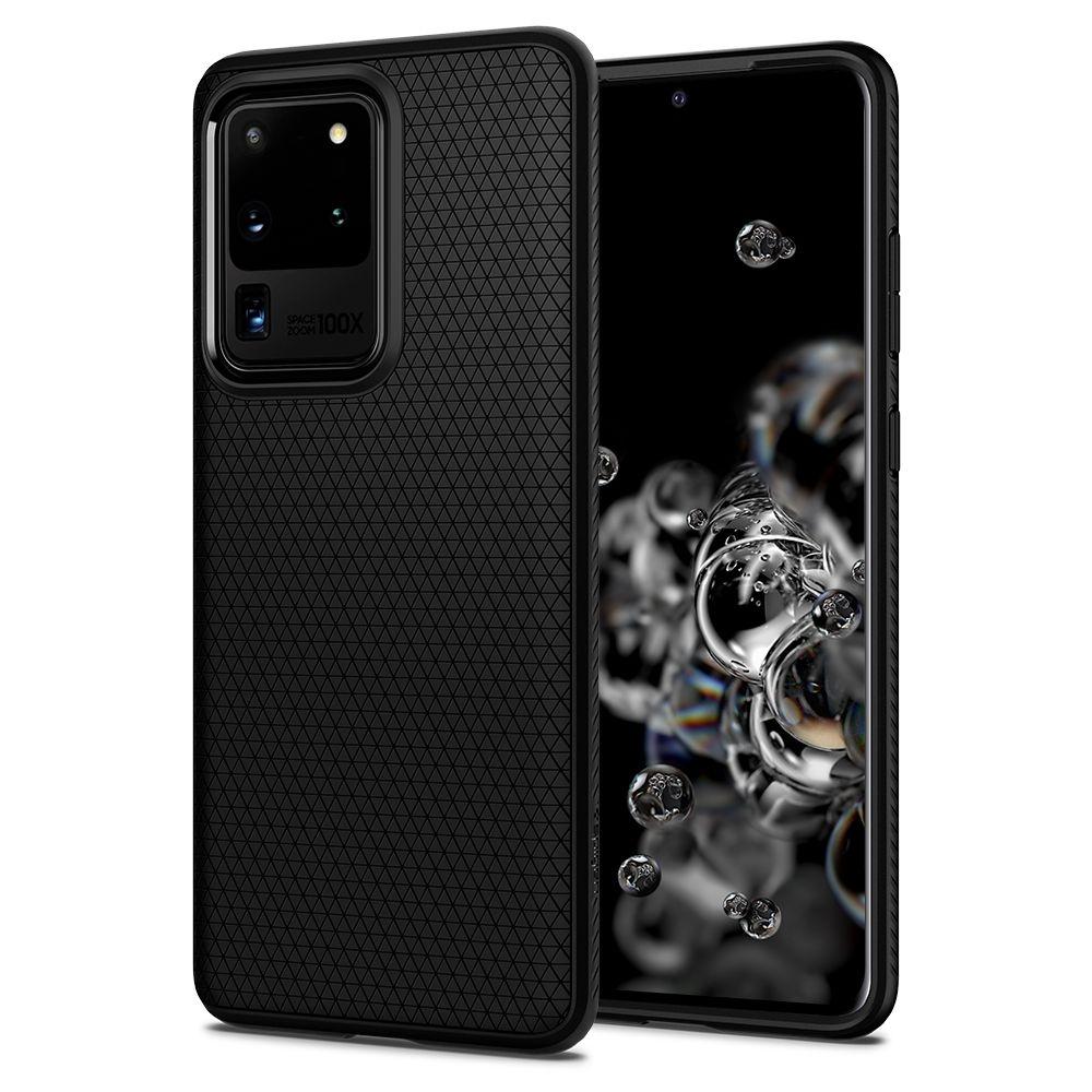 Spigen Θήκη Liquid Air Samsung Galaxy S20 Ultra - Black Matte (ACS00712)