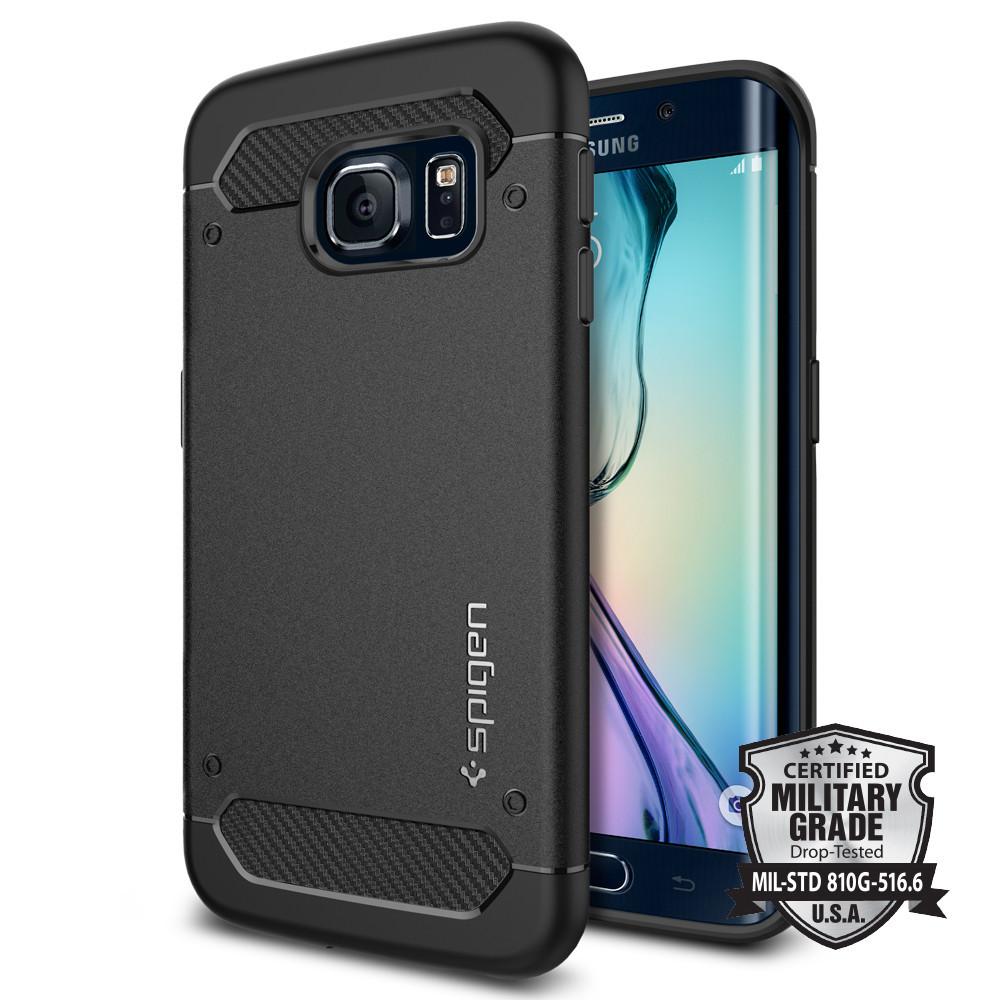 Spigen Θήκη Rugged Armor Samsung Galaxy S6 Edge Tough - Black (SGP11414)