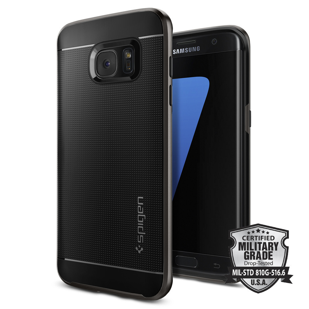 Spigen Θήκη Neo Hybrid Samsung Galaxy S7 Edge - Gunmetal Grey (556CS20143)