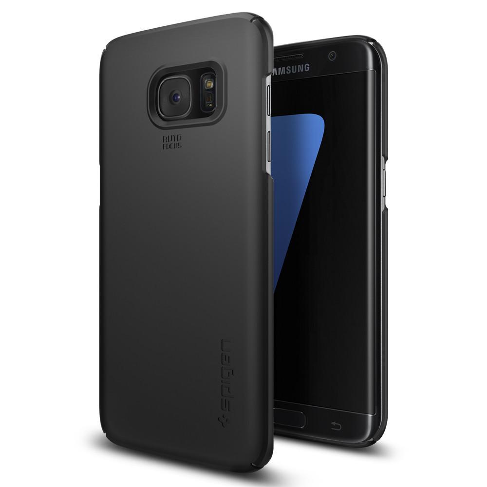 Spigen Θήκη Thin Fit Samsung Galaxy S7 Edge - Black (556CS20029)
