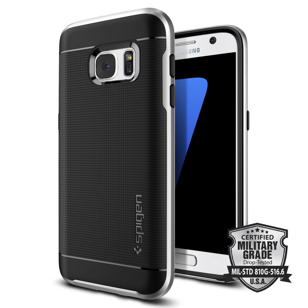 Spigen Θήκη Neo Hybrid Samsung Galaxy S7 - Satin Silver (555CS20142)
