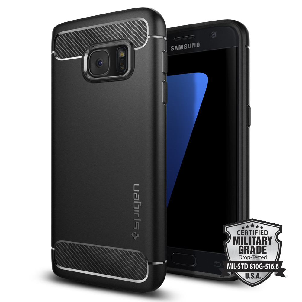 Spigen Θήκη Rugged Armor Samsung Galaxy S7 Tough - Black (555CS20007)