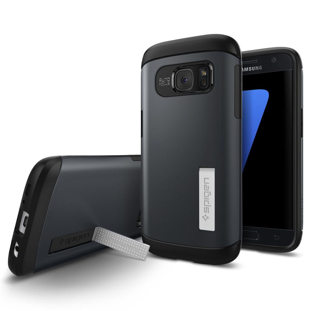 Spigen Θήκη Tough Armor Samsung Galaxy S7 - Metal Slate (555CS20024)