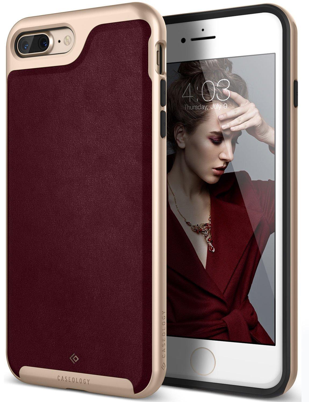 Caseology Θήκη Envoy Series iPhone 8 Plus / iPhone 7 Plus - Leather Cherry Oak (CO-I7L-ENV-CH)