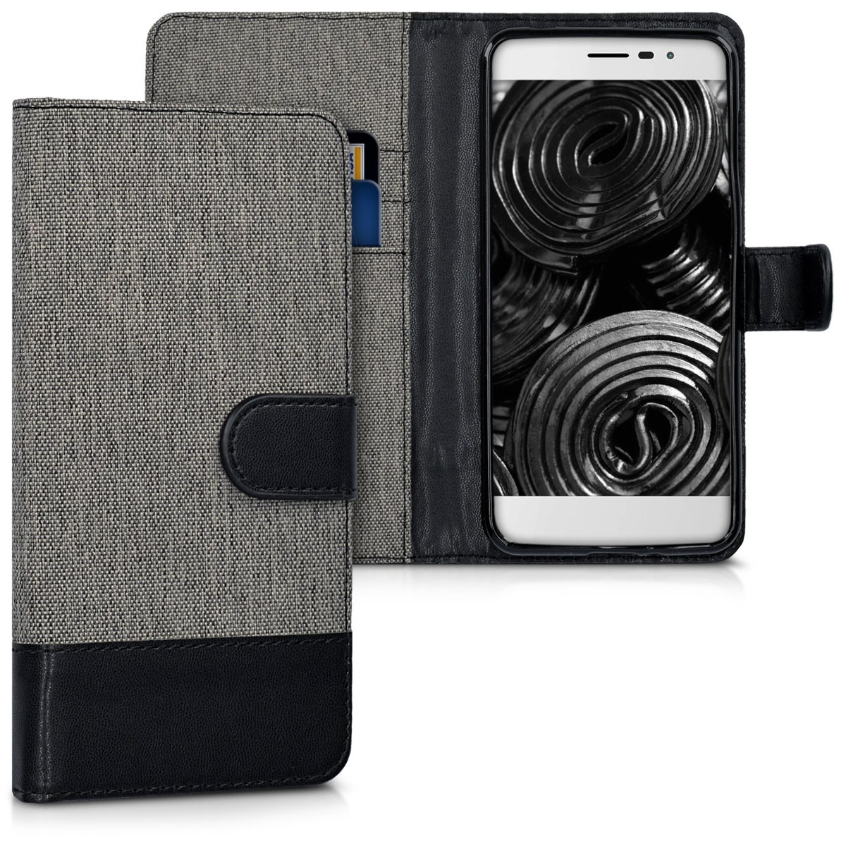 KW Θήκη - Πορτοφόλι Coolpad Torino S - Grey/ Black (40291.01)