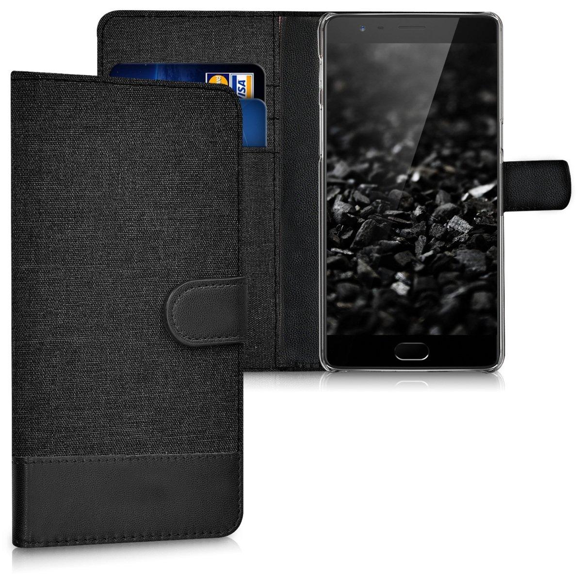 KW Θήκη - Πορτοφόλι OnePlus 3/3T - Anthracite/ Black (38833.19)