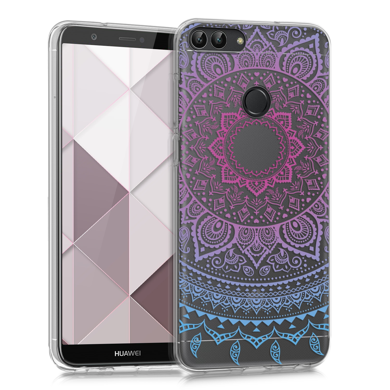 KW Θήκη Σιλικόνης Huawei P Smart 2018 - Blue Dark/ Pink Indian Sun (44125.03)