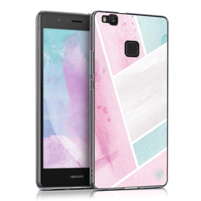 KW Θήκη Σιλικόνης Huawei P9 Lite (39095.02) - Watercolour Surface θήκες κινητών