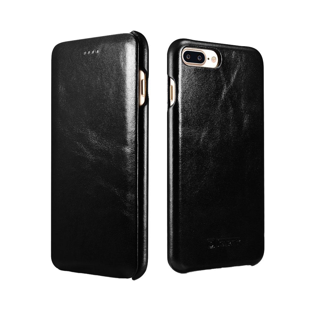 iCarer Vintage Series Side-Open Δερμάτινη Θήκη iPhone 8 Plus / iPhone 7 Plus - Black (RIP7002BL)