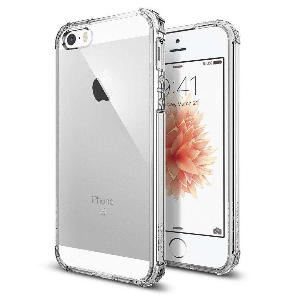 Spigen Θήκη Crystal Shell iPhone SE/5S/5 - Crystal Clear (041CS20177) θήκες κινητών