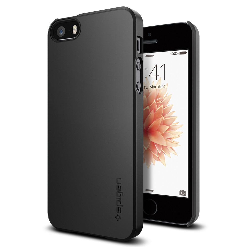 Spigen Θήκη Thin Fit iPhone SE/5S/5 - Black (041CS20168)