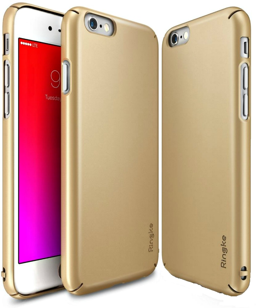 Ringke (Slim) Θήκη iPhone 6/6S + Screen Protector - Royal Gold (RS-IP6P-RG)