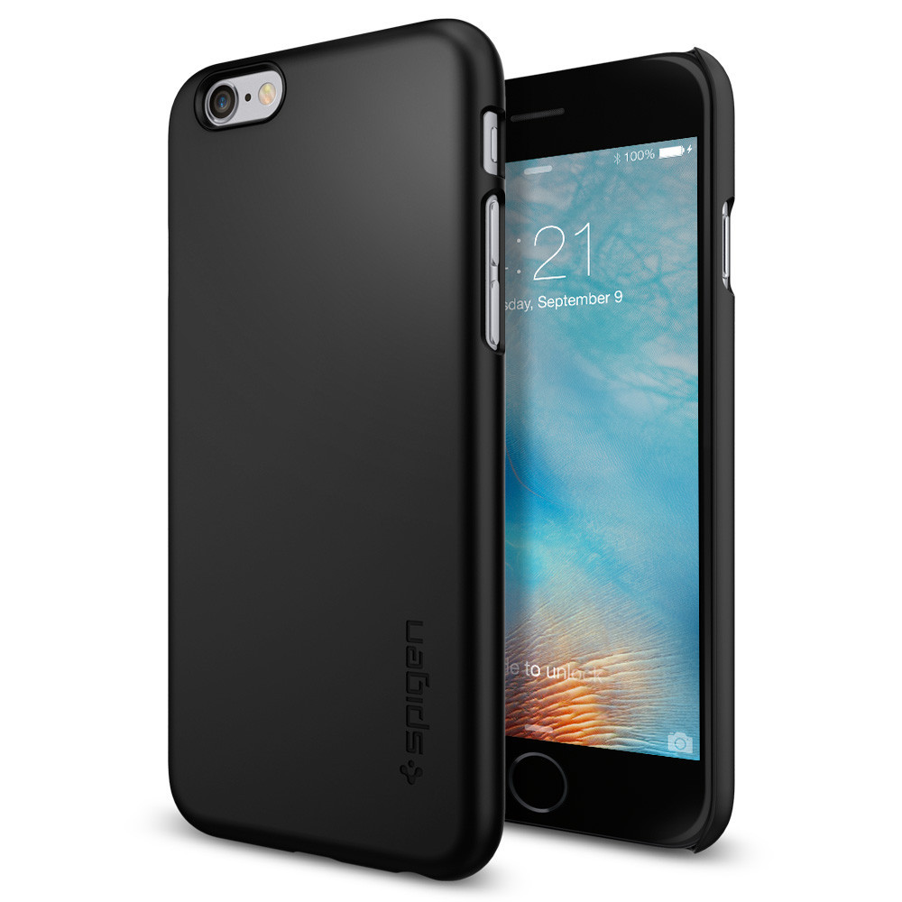 Spigen Θήκη Thin Fit iPhone 6/6S - Black (SGP11592)