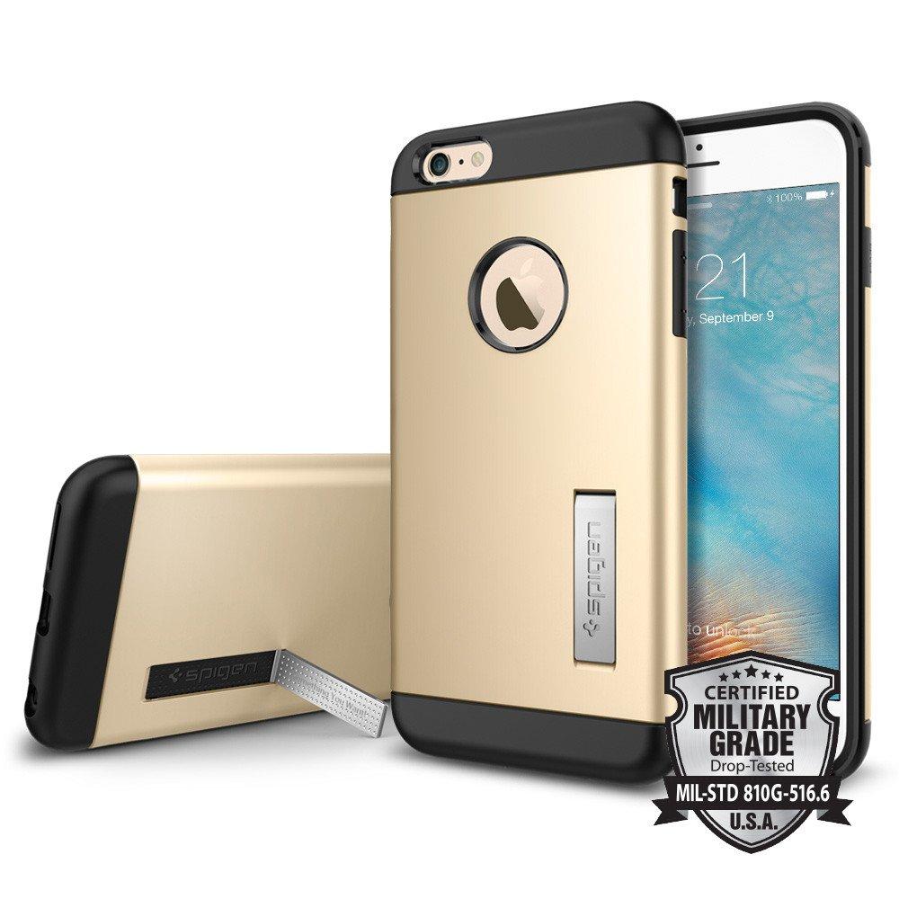 Spigen Θήκη Slim Armor iPhone 6 Plus/6S Plus - Champagne Gold (SGP11653) θήκες κινητών