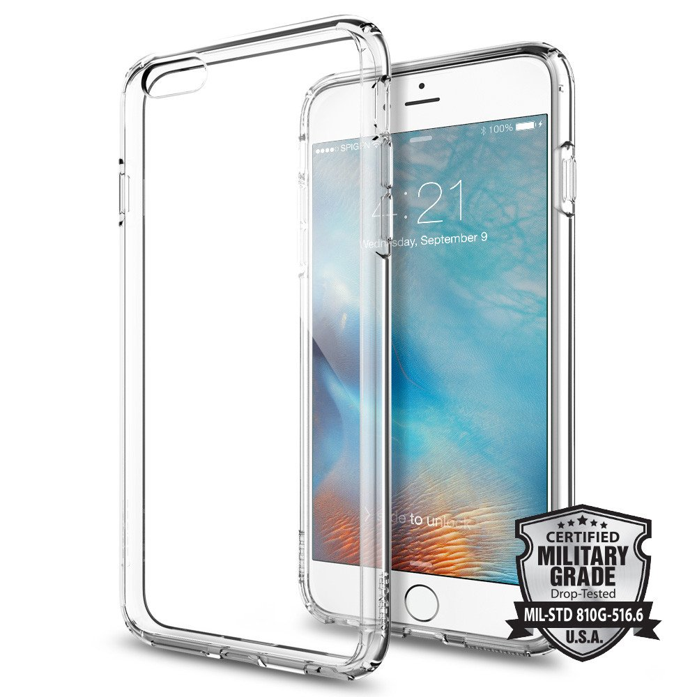 Spigen Θήκη Ultra Hybrid iPhone 6 Plus/6S Plus - Crystal Clear (SGP11644)