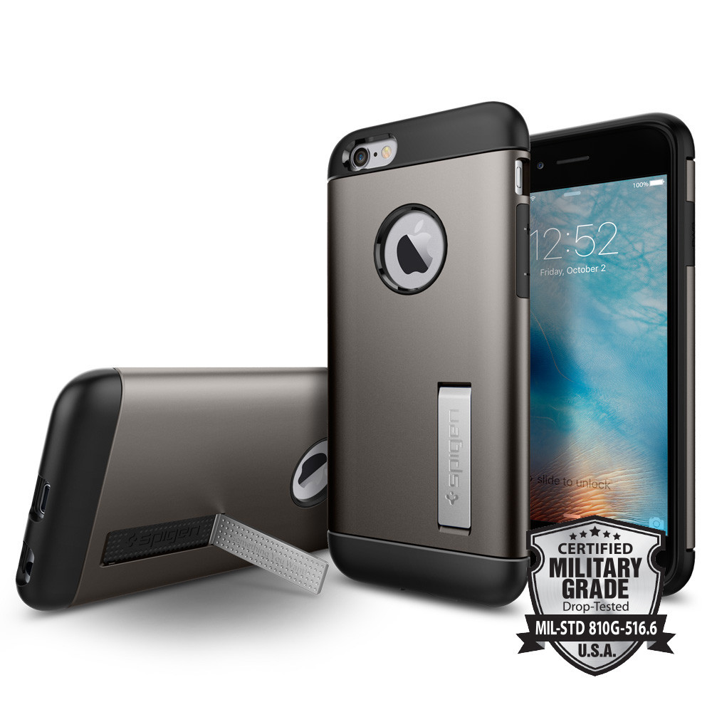 Spigen Θήκη Slim Armor iPhone 6/6S - Gunmetal (SGP11605)