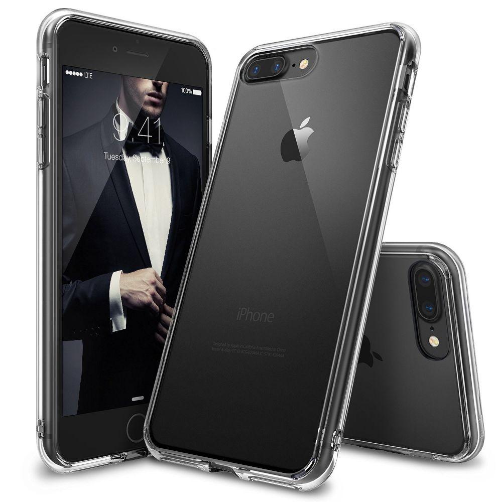 Ringke (Fusion) Θήκη iPhone 8 Plus / iPhone 7 Plus με TPU Bumper - Clear (8574)