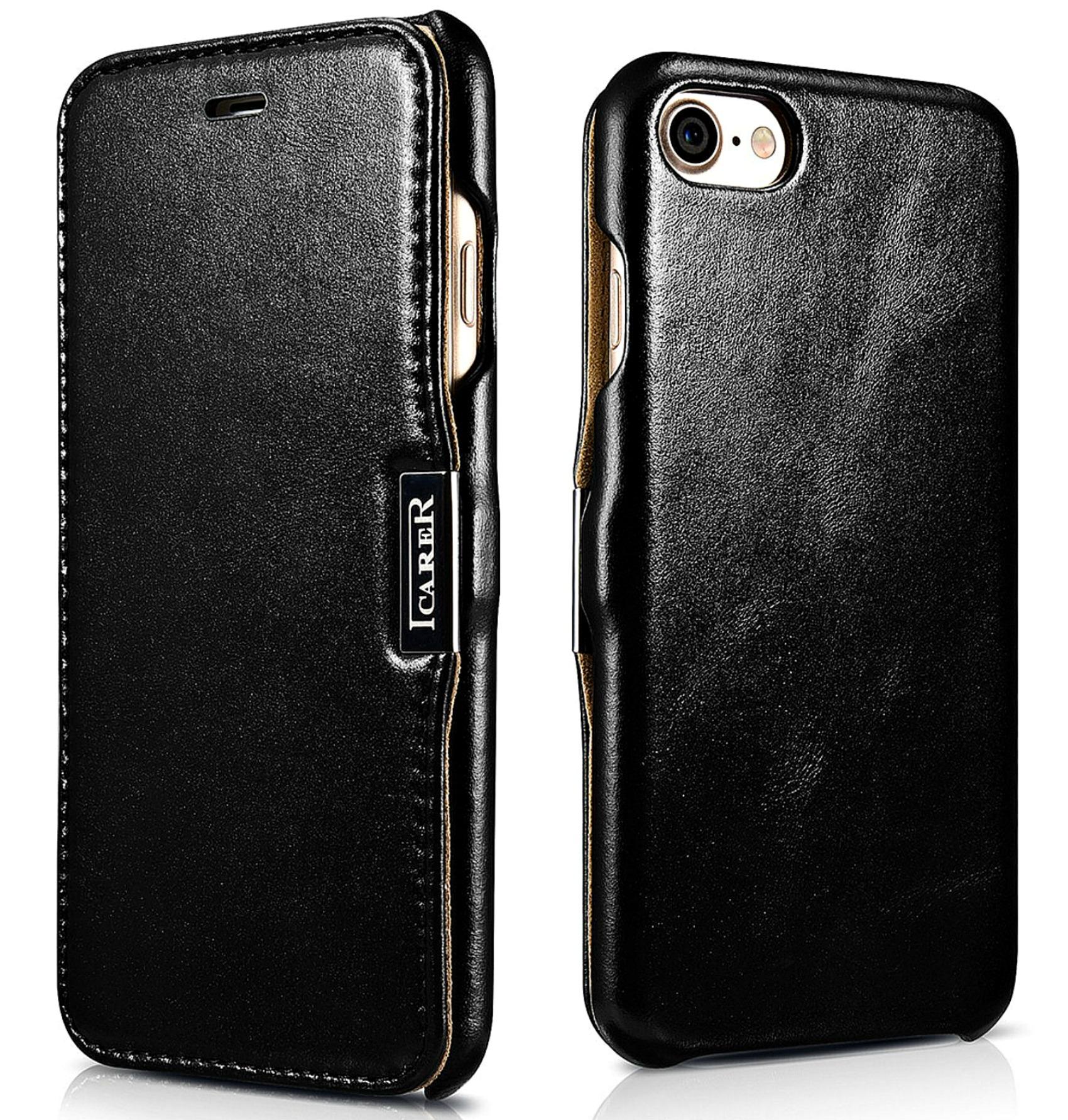 iCarer Vintage Series Side-Open Δερμάτινη Θήκη iPhone 8 / 7 - Black (RIP702BL)