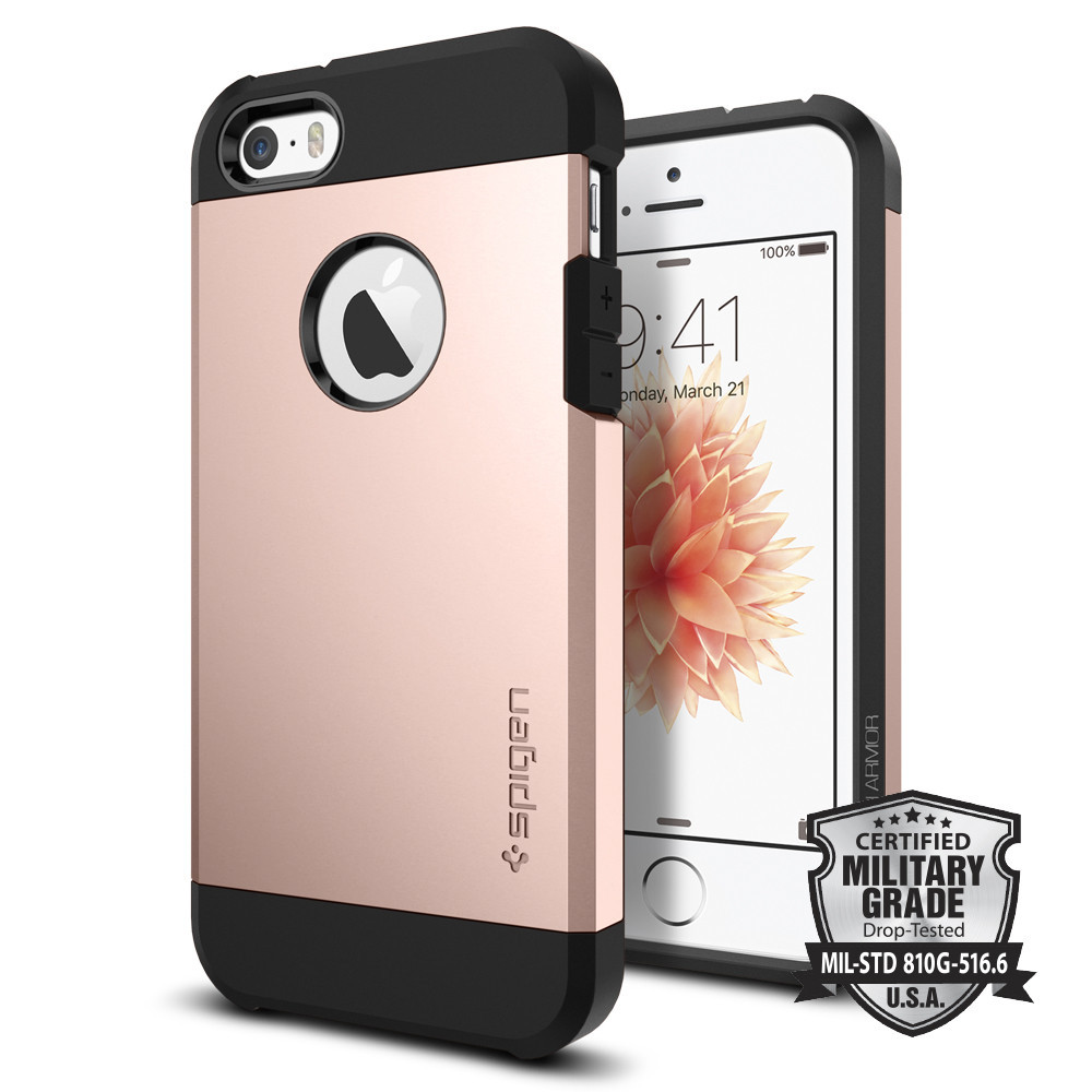 Spigen Θήκη Tough Armor iPhone 5/5S/SE - Rose Gold (041CS20190)