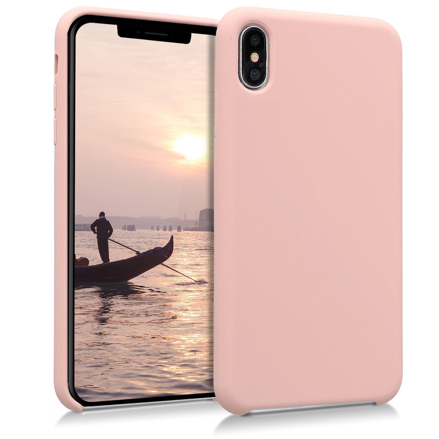 KW Soft Flexible Rubber Θήκη Σιλικόνης iPhone XS Max - Antique Pink (45909.10)