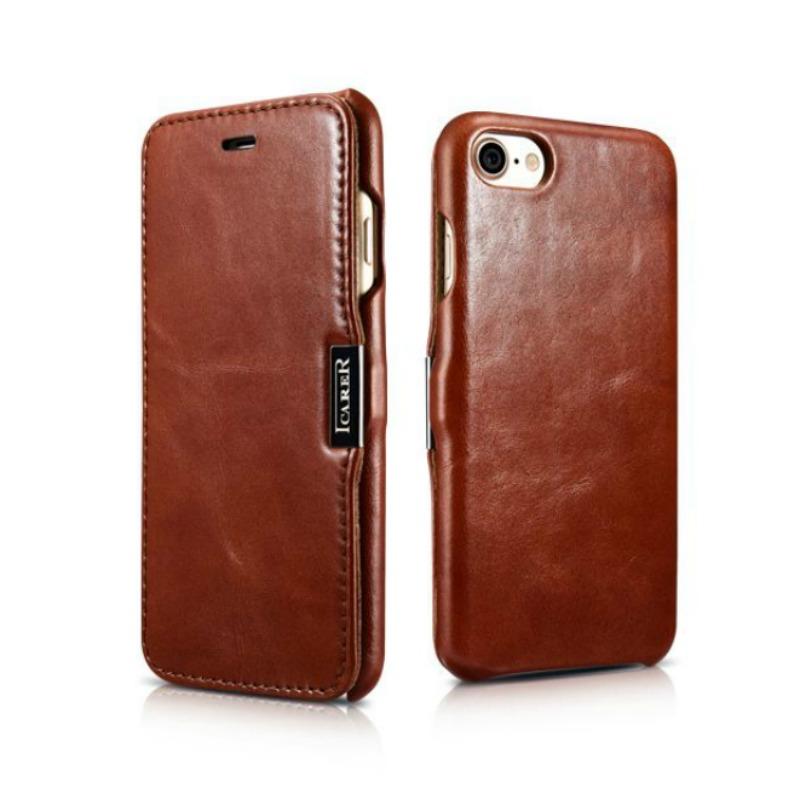 iCarer Vintage Series Side-Open Δερμάτινη Θήκη iPhone 8 / 7 - Brown