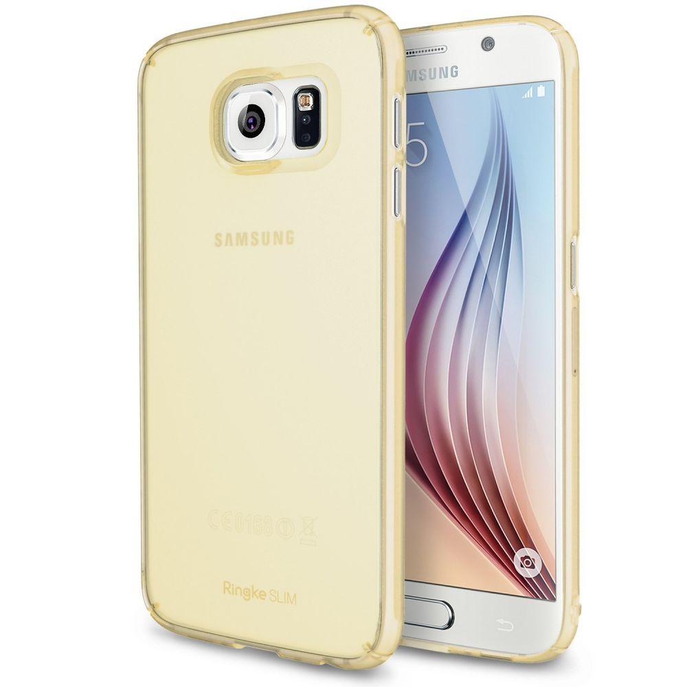 Ringke (Slim) Θήκη Samsung Galaxy S6 + Screen Protector - Frost Yellow (9062)