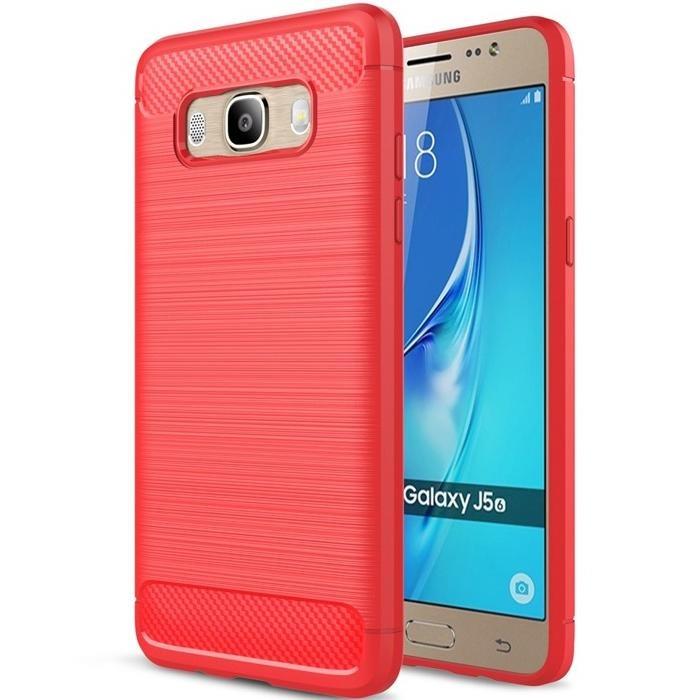 SHTL Θήκη TPU Carbon Samsung Galaxy J5 (2016) - Red (140431)